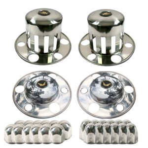Watts Wheels Premium Truck Accessories - AFKL007 Stainless Steel Axle Cover Kit